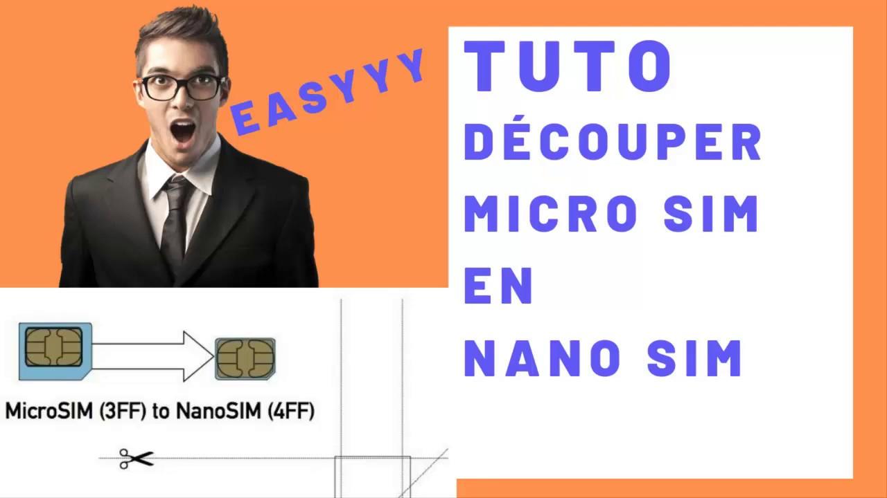 Comment Découper une carte SIM ( Micro SIM à Nano SIM) iphone samsung transformer en nano sim ...