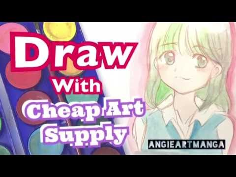 Tutorial of cheap art supplies chalenge with angie art for Where to buy cheap craft supplies