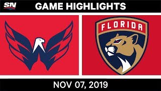 NHL Highlights | Capitals vs. Panthers - Nov. 07, 2019
