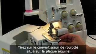 Surjeteuse TOYOTA série SL1TX (SL3335 et SL3487) : Comment faire le roulotté ?