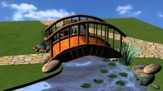 Мост как элемент ландшафтного дизайна мини-парка