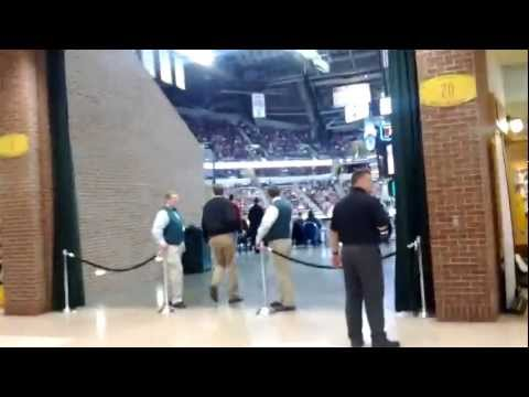 Walking into Bankers Life Fieldhouse