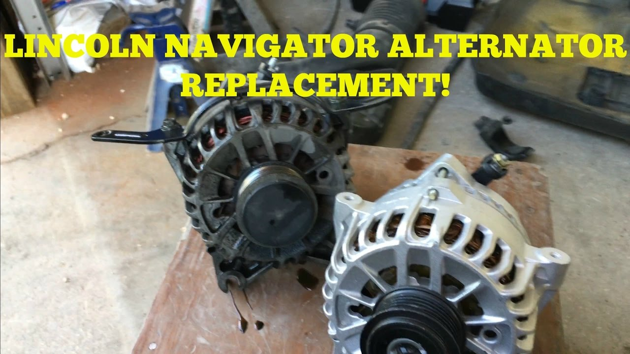 How To Install Replace Alternator Lincoln Navigator F 150 Expedition