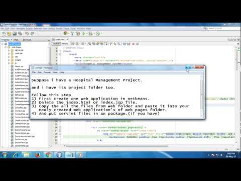 How to run any java web project in Netbeans IDE