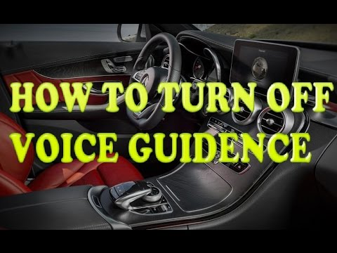 How To Turn Off Mercedes-Benz Voice Navigation Guidance