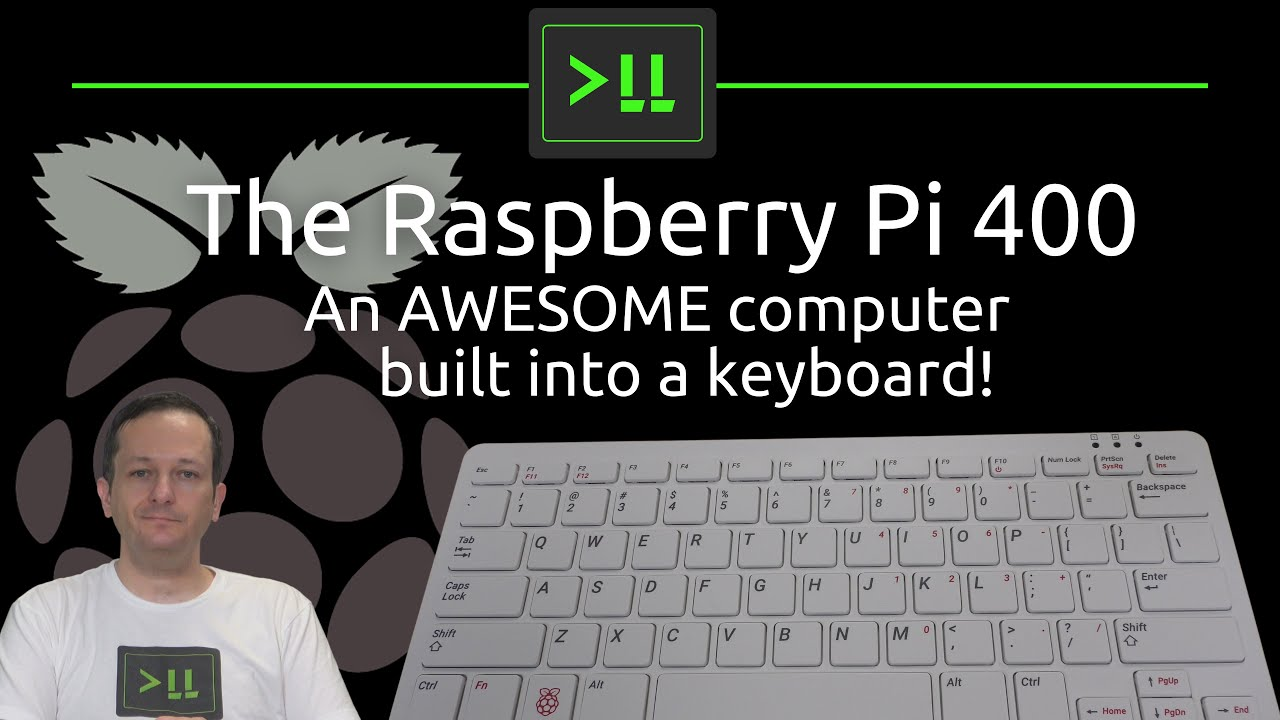 The Raspberry Pi 400 - A full computer in a keyboard!
