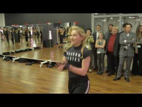 Madonna at Hard Candy Fitness Berlin opening during the workout October 17 2013