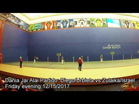 Dania Jai Alai late game partido Diego/Urbieta vs Zulaika/Israel 12/15/2017