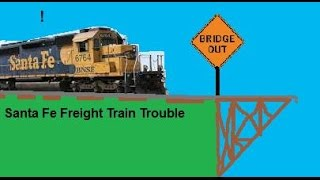 ROBLOX: Santa Fe Freight Train Trouble