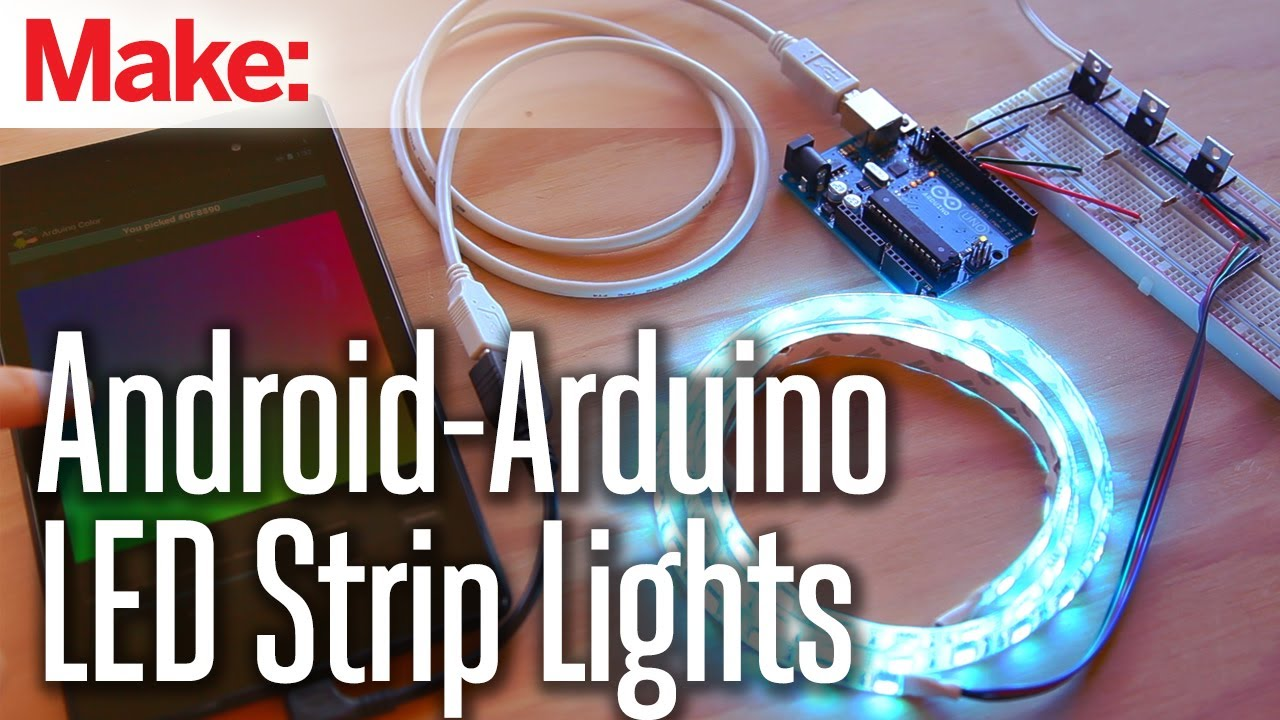 Weekend projects android arduino led strip lights youtube aloadofball Images