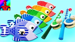 Best Video for Learning Colors & Numbers!  Catch & Count Fishing Game!