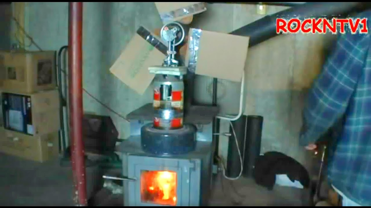Stirling Engine On Wood Stove Bigger Fan Youtube