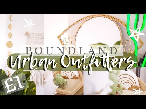 DIY URBAN OUTFITTERS ROOM DECOR  *2019* £1 POUNDLAND