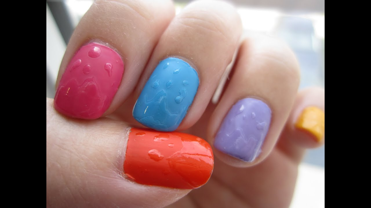 Wet Nails Illusion! Using a Matte Top Coat - YouTube