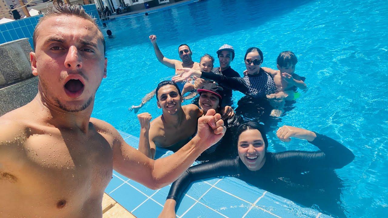 ! نزلنا حمام السباحة الحقيقي ..!! في اخر يوم العيد | يوم مع العائلة في حمام السباحة