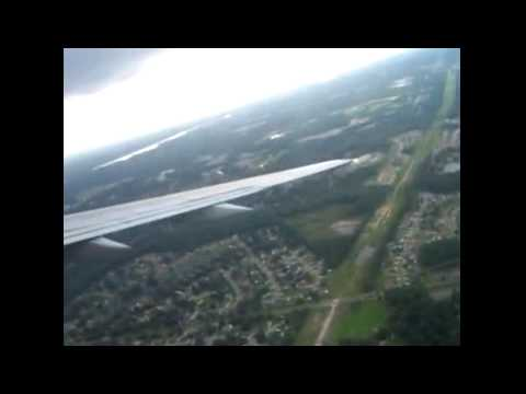 Scary aborted 757 landing