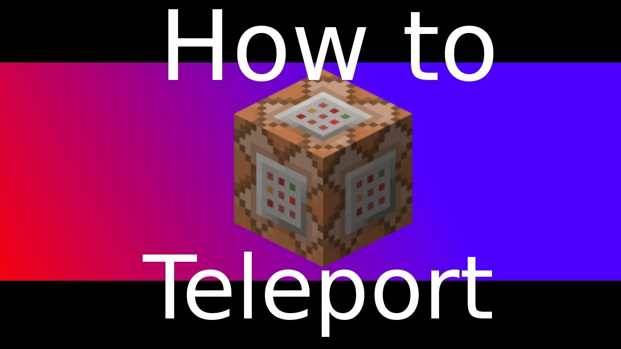 Command Block Teleportation Tutorial YouTube - Minecraft zu spieler teleportieren