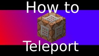 Command block Teleportation tutorial