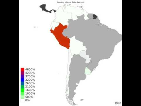 South America - Lending Interest Rate - Time Lapse