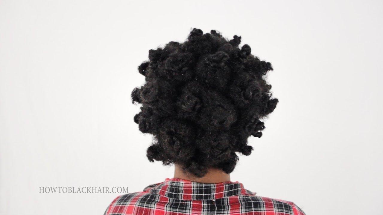 Bantu Knots On Natural Hair Short