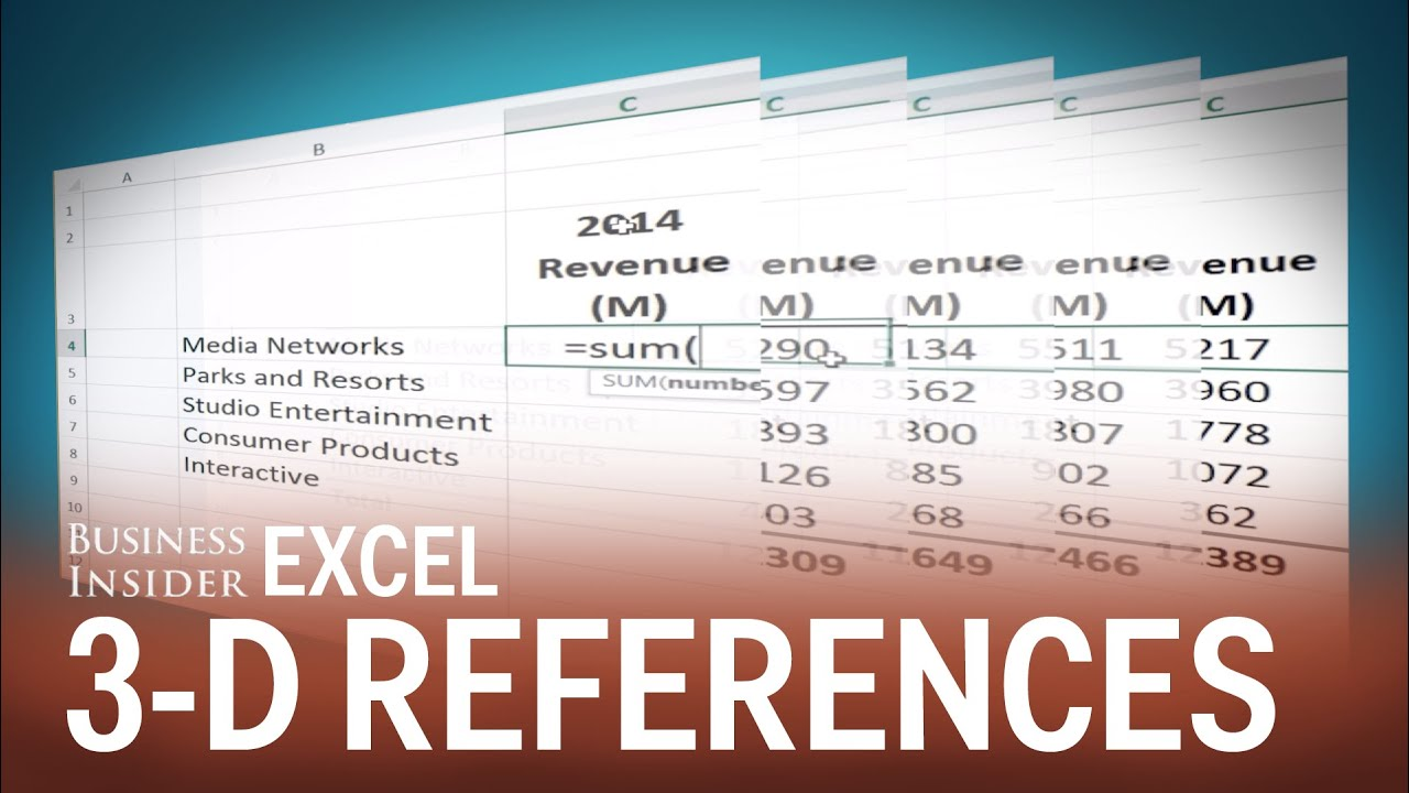 How To Use 3 D References In Excel