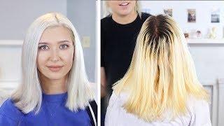 ICY WHITE PLATINUM BLONDE | DIY Hair Tutorial