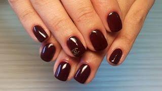 Дизайн ногтей гель-лак shellac - Дизайн ногтей Шанель (видео уроки дизайна ногтей)