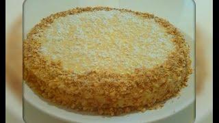 Простой и быстрый торт из готовых вафельных коржей