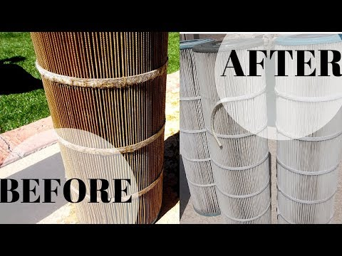 DIY POOL FILTER CLEANING - SUPER EASY