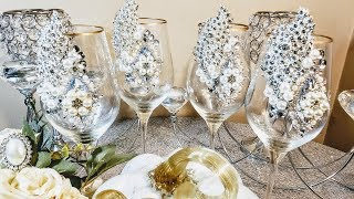 DIY Elegant Bling Centerpieces💎| DIY Glam Entertaining Ideas🌷