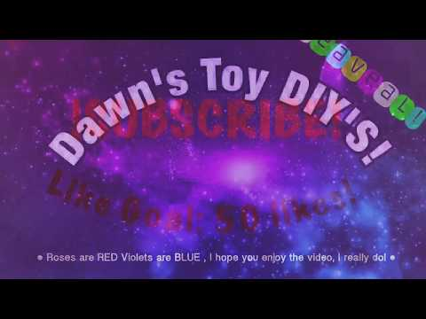 Roses are Red, Violets are blue poems! | BFF gifts! | Dawn's Toy DIY'S
