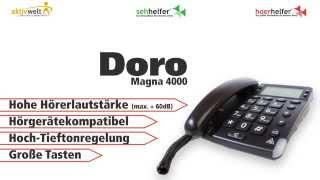 Produktvideo zu Schwerhörigen-Telefon Doro Magna 4000