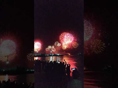 Dubai Fireworks Kite Beach 2021 #Shorts
