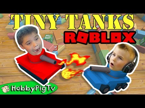 Tiny Tank Roblox! Let's PLAY with HobbyFrog Team + Video Gaming PC Game App HobbyPigTV