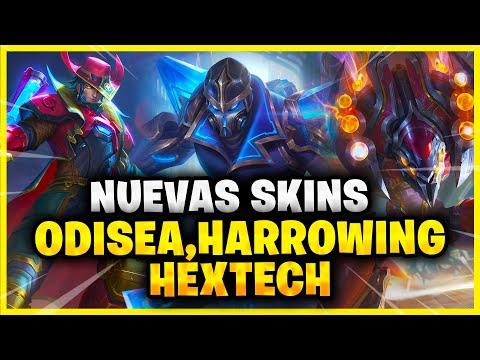 NUEVAS SKINS ODISEA - HARROWING Y HEXTECH *LEAGUE OF LEGENDS