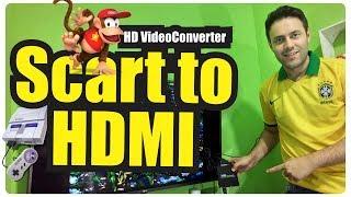 O Seu Video Game Retro com o Scart to Hdmi Converter