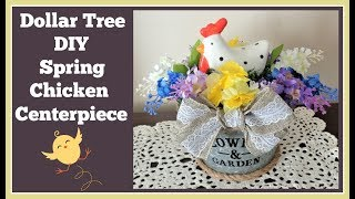 Dollar Tree Diy Spring Chicken Centerpiece 🌸 Really Cute and Easy