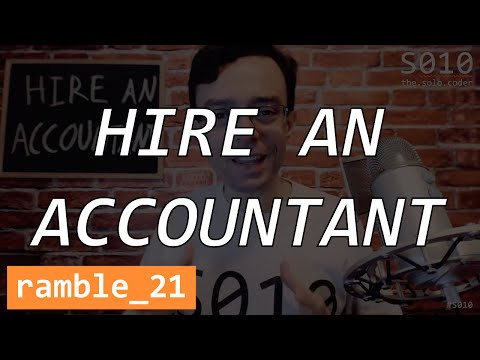 The Solo Coder - ramble 21 - Hire An Accountant