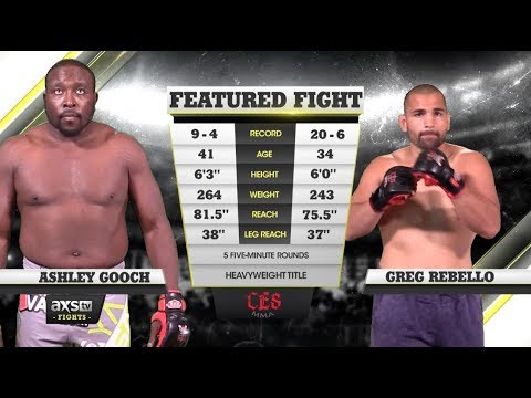 Fight of the Week: Ashley Gooch and Greg Rebello Battle for the Heavyweight Strap at CES 37