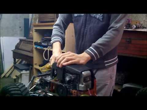 voiture rc moteur de tronconneuse 40 cm3 homemade chainsaw rc car. Black Bedroom Furniture Sets. Home Design Ideas