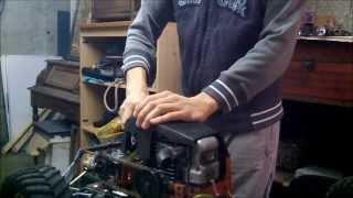 voiture rc moteur de tronconneuse 40 cm3 / homemade chainsaw rc car