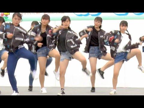 神港橘高等学校ダンス部 神戸まつり2018 ガールズダンス 【FHD&60P】 湊川公園 JKダンス はっぴいひろば