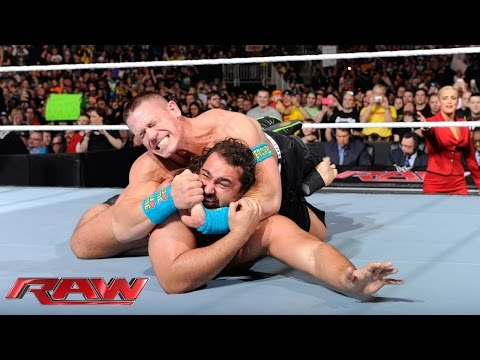 Thumbnail: John Cena displays reckless abandon to get his rematch with Rusev: Raw, March 9, 2015