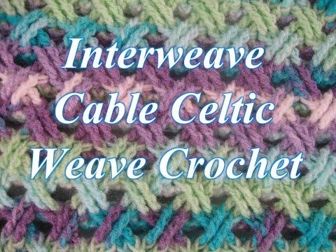 Interweave Cable Celtic Weave Crochet Stitch - Left Handed Crochet Tutorial