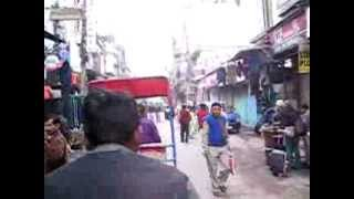 Cycle Rickshaw  Ride from Delhi Railaway station to Guest house in Pahaganj