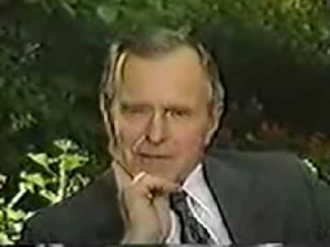 Upton Bell Interviews George H.W. Bush Part 1.