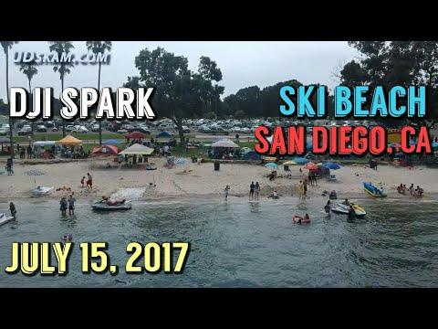 DJI Spark Drone Footage at Ski Beach Mission Bay - San Diego, CA