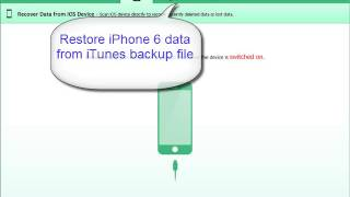 iPhone 6 Plus data recovery software