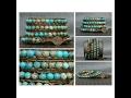 turquoise wrap bracelet- aqua terra jasper on bronze