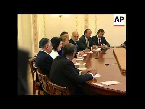 Chilean President Bachelet meets Russian PM Putin